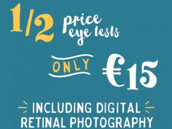 Half price eye tests - only €15
